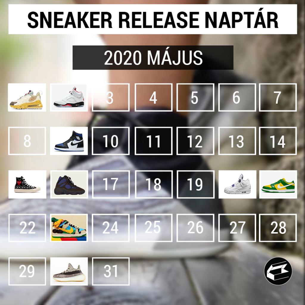 Sneaker Release Calendar – 2020 május