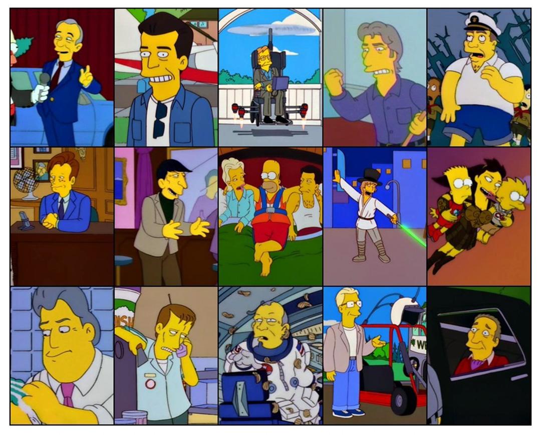 Híres emberek a Simpsons sorozatban