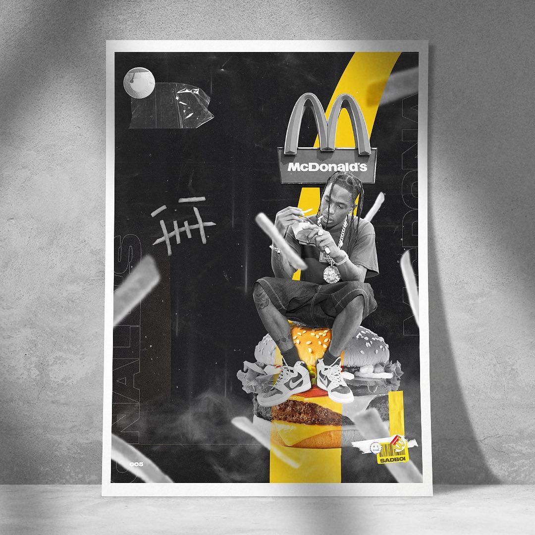 Travis x McDonald's (Grafika: @sadboiartworks)