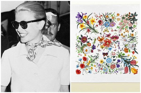 Grace Kelly és az első Gucci floral print