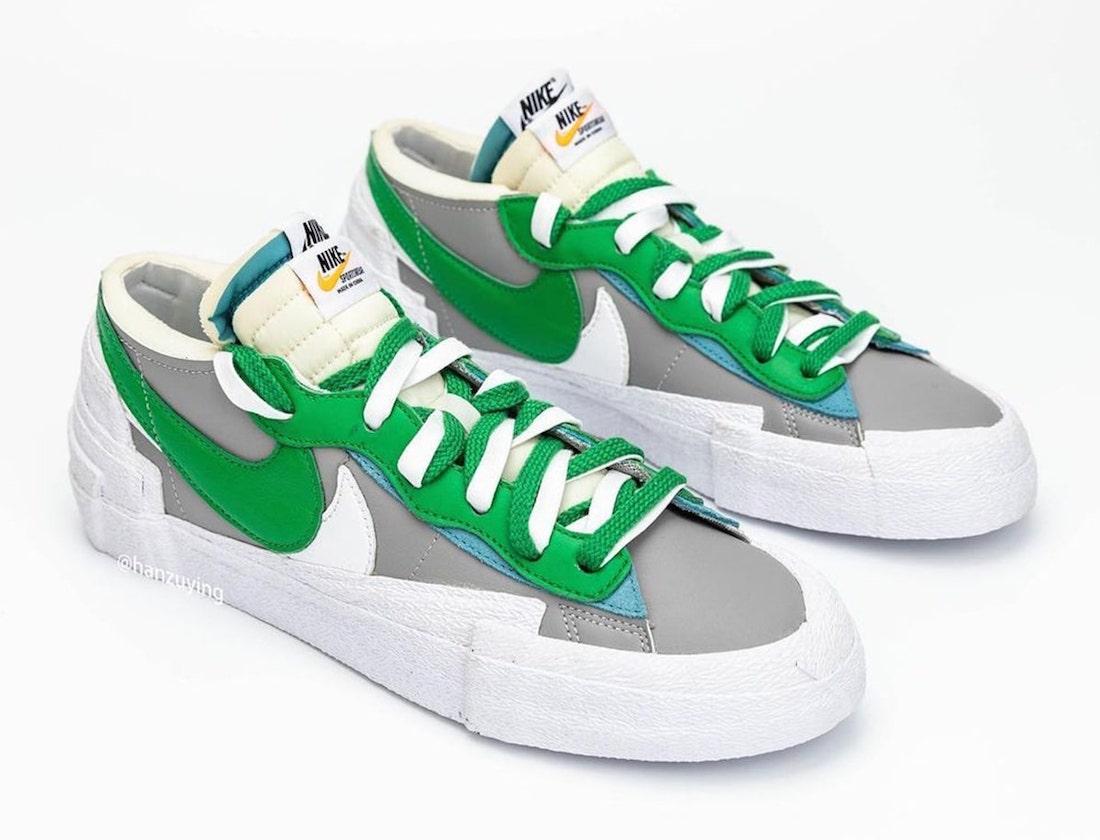 Sacai x Nike Blazer Low (Classic Green DD1877-001)