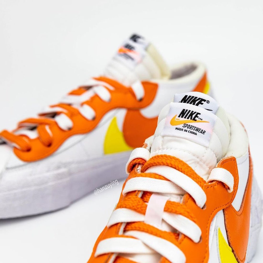 Nike x Sacai Blazer Low (Magma Orange DD1877-100)
