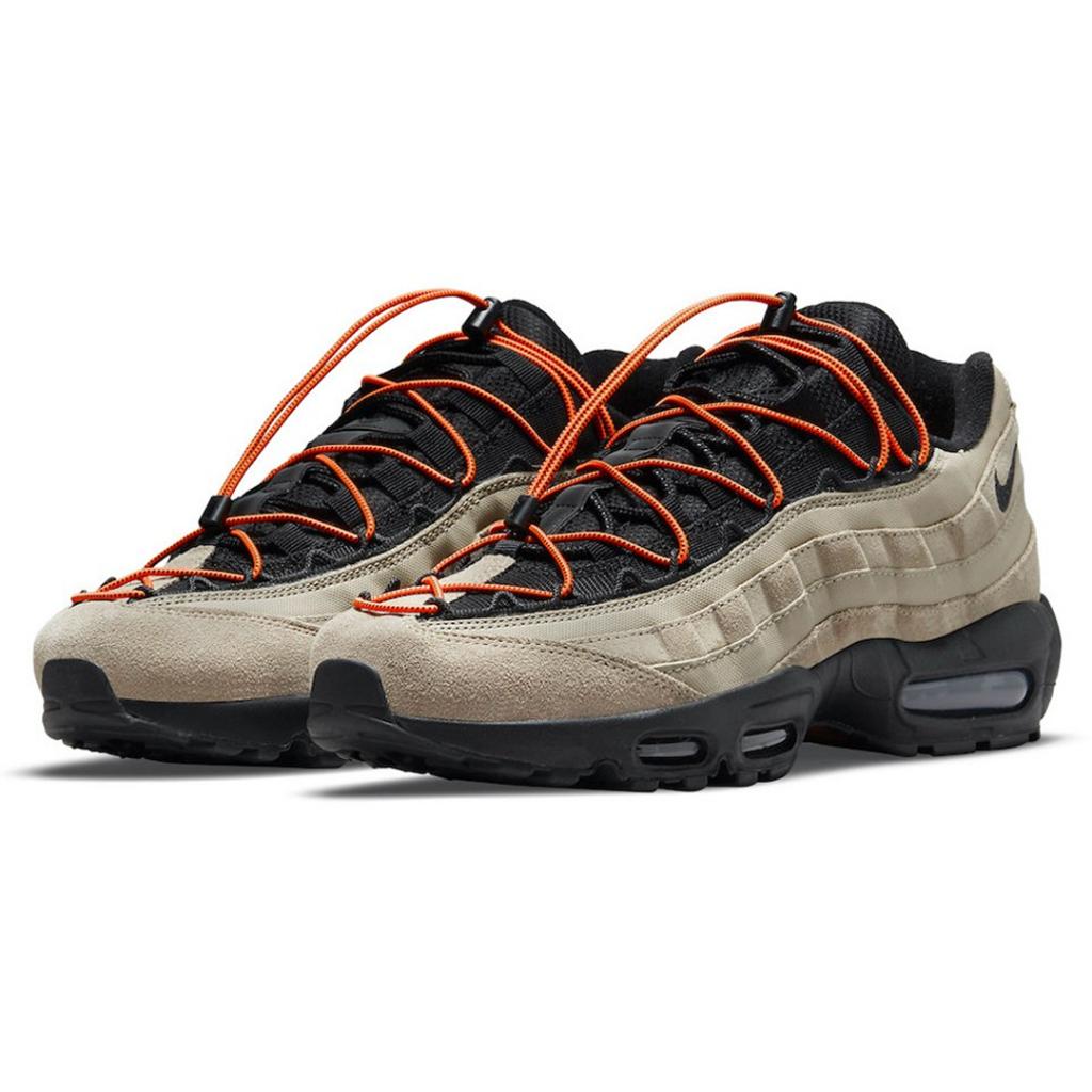 Nike Air Max 95 homok/fekete narancs gyorsfűzőkkel