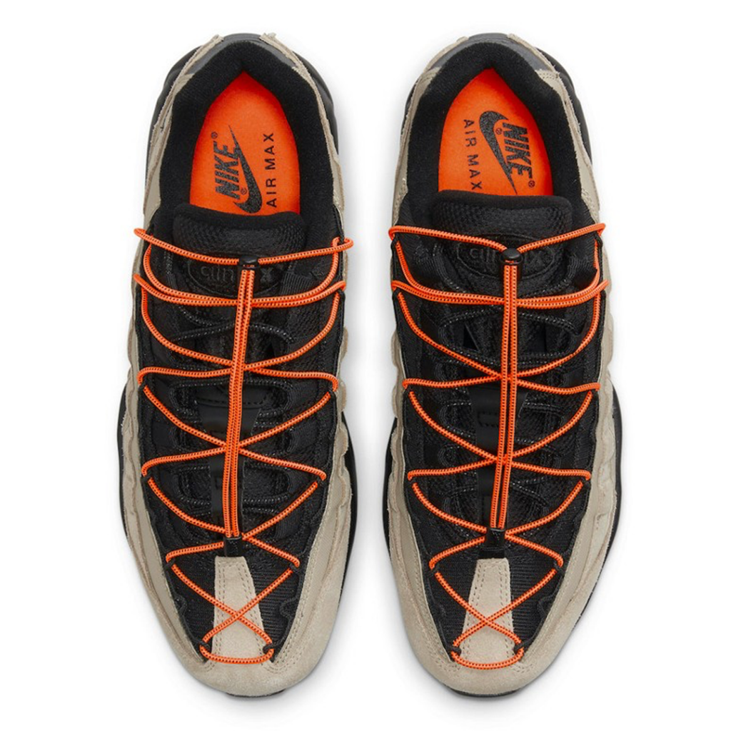 Nike Air Max 95 narancs gyorsfűzőkkel